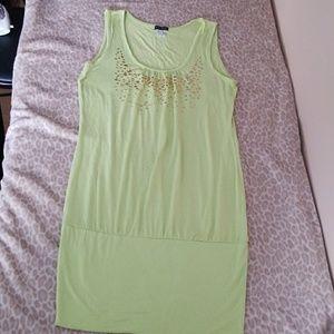 (M) Venus Lime green Dress